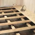 Делаем полы в деревянном доме