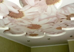 Потолок из гипсокортонна.