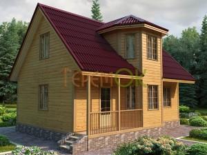 Дом из бруса - проект Д-6903