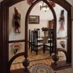 Разделение кухни и гостиной аркой