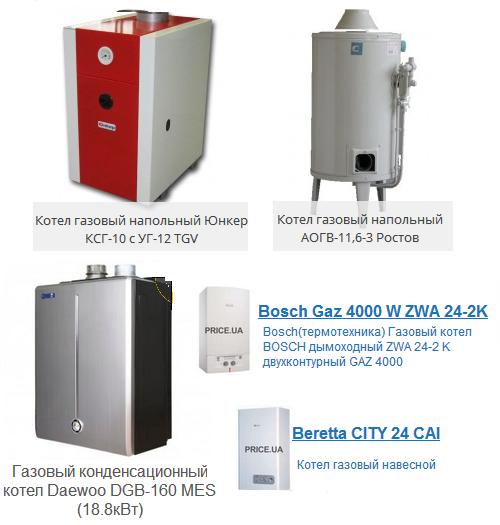 бытовые газовые котлы российского производства этой игре