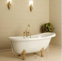 Каменный ковер в ванной комнате